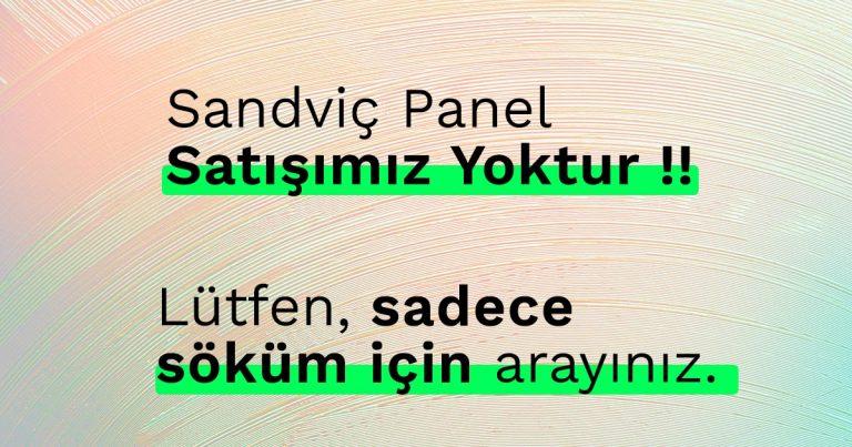 İkinci El Sandviç Panel